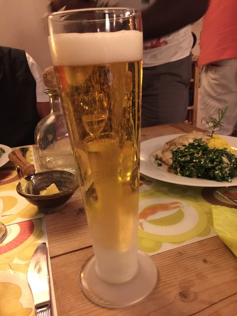 A cold beer, great food and good friends - the best things in life !