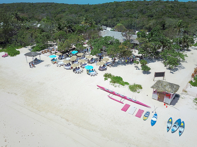 Jack's Bay venue for Sunday brunch - look at that pink outrigger canoe - fantastic. Thanks to Dom Cant for the drone shot.