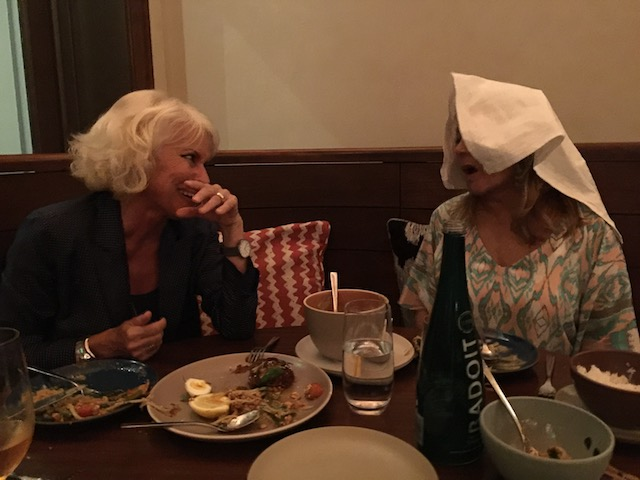 Jilly had to put her napkin on her head to stop the steam coming out of her ears ! while I sat there laughing and feeling the steam coming out of my ears too !