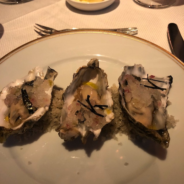 Oh those oysters - I could have eaten a dozen !
