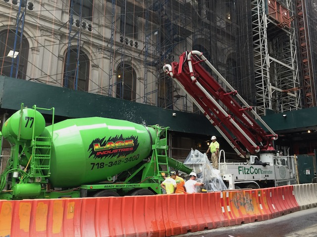 This is what Bob wants pictures of from New York - cement mixer and cement pump - I ask you !