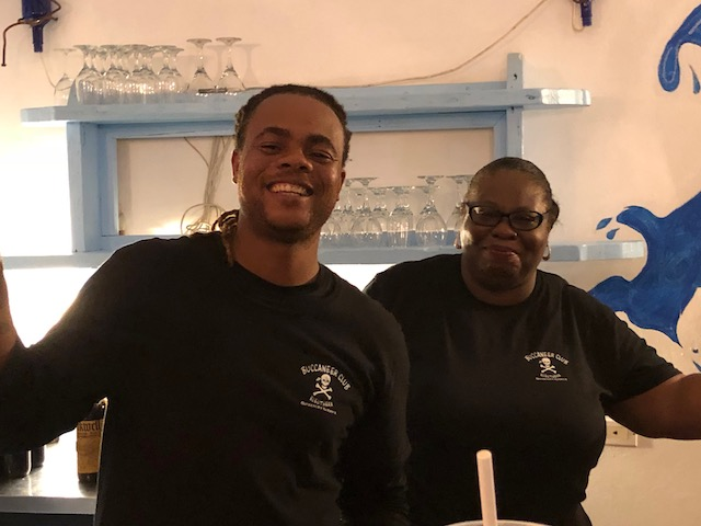Breeze and Pat - best bartenders !