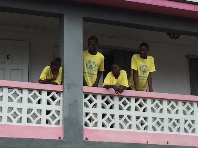 Grandstand view for the Eleuthera team.