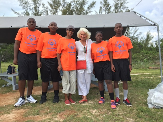 Yours truly with the Grand Bahama team