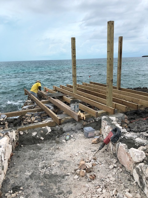 Building a jetty on the Caribbean side - yes I know it is not actually the Caribbean but would you all know which side I meant if I had put the leeward side ?