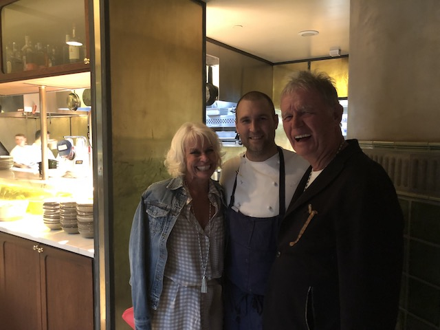 Bob and I with the very talented Chef Matt ......