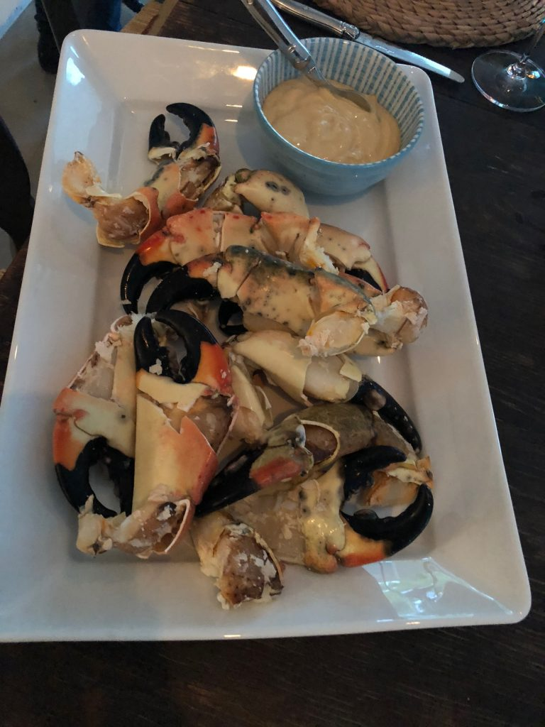 divine stone crab claws ....