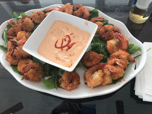 So very tasty - coconut shrimp appetizers