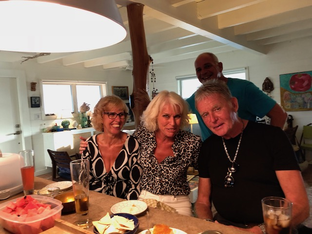 Anticipating a delicious meal with Dan and Larry on Cupid's Cay - yes now in 2018 !