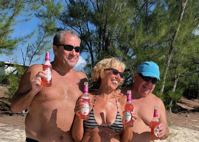 We met Dan and Larry at the beach on Saturday and they bought Radlers to celebrate the time we had with Jane here....