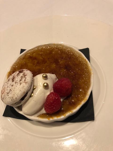 Creme Brûlée desert at Valentino's
