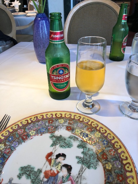 And another great discovery - Tsingtao beer in a chinese restaurant
