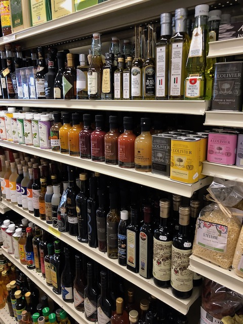 Shelves full of goodies at the International Food and Wine Market