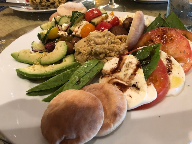 If you find yourself in Bacchus Fine Foods and hungry - why not try the mediterranean platter - I can tell you it is delicious....