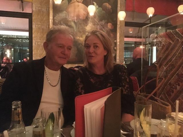 Bob and his daughter Sami at the Ham Yard Hotel