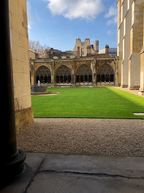 The cloisters at Westminster Abbey where you are allowed to take pictures.