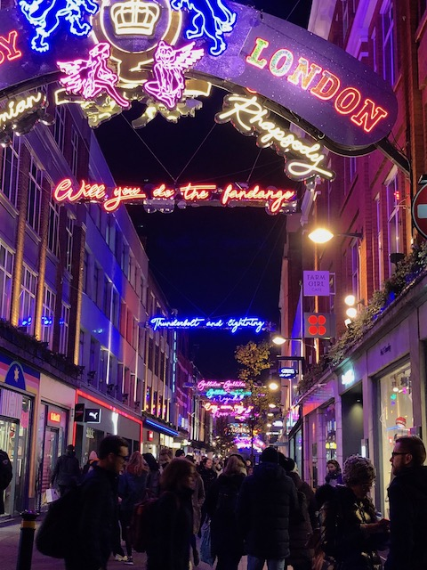 Carnaby St all lit up .....