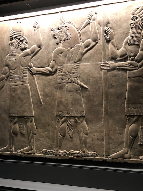 An ancient Assyrian frieze from the exhibition.