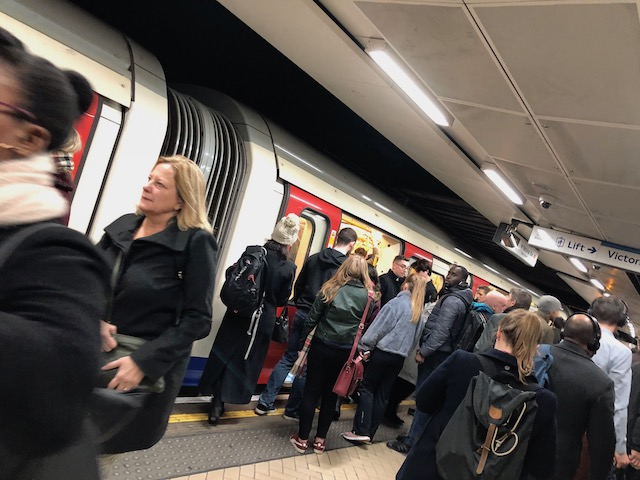 The tube in rush hour.....