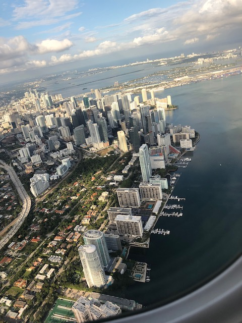 Coming in to Miami - not what we were expecting but a very welcome sight....