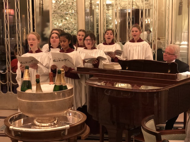 And Christmas carols being sung in the hotel on Sunday afternoon.