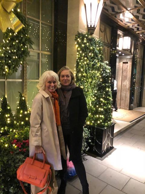 Sami and I and the Christmas lights.....