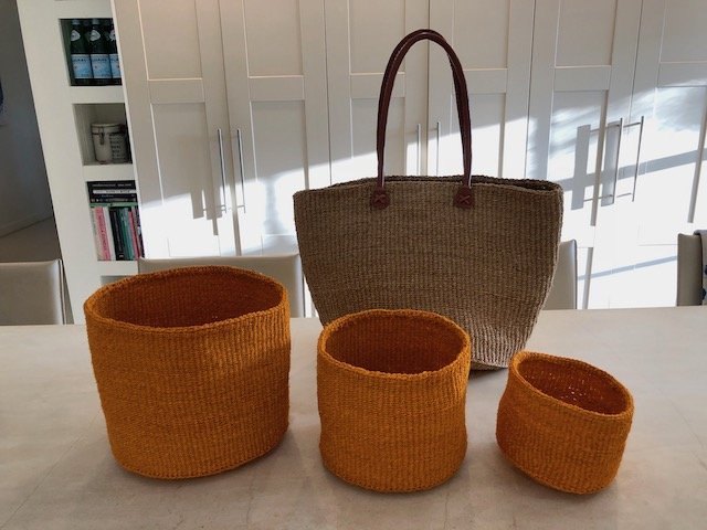 Great bag and beautiful orange baskets