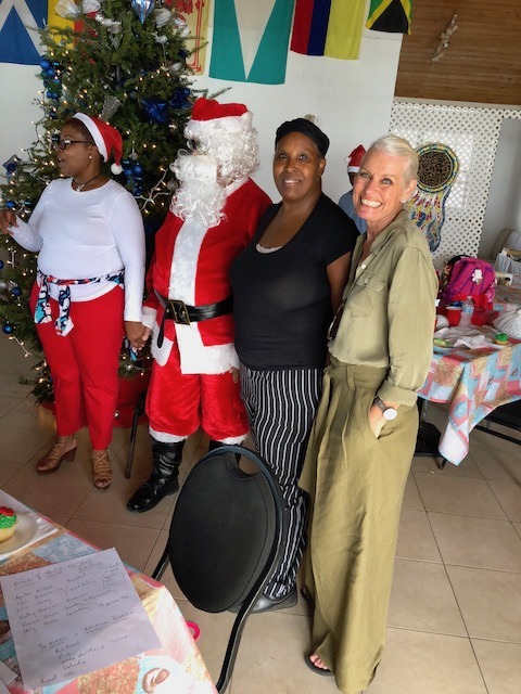 From left to right - Agatha, Santa, Miss Jay and me ....