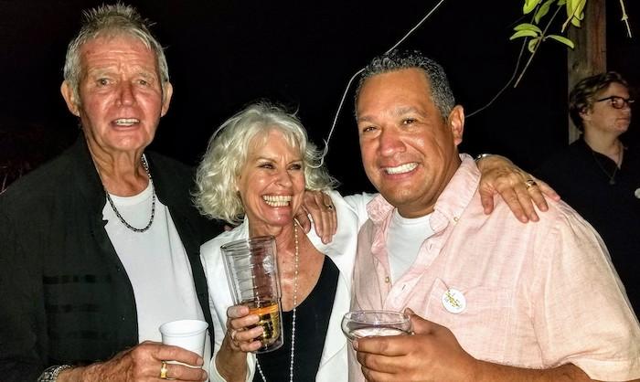 Bob, me and Tony - having fun.....