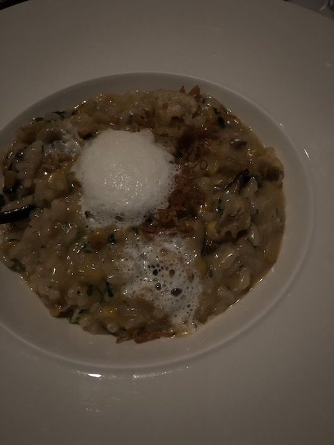 This was appetizer - a fantastic risotto with mushrooms, caramelized onions and a delicious foam on top which I couldn't tell you what it was if my life depended on it !!