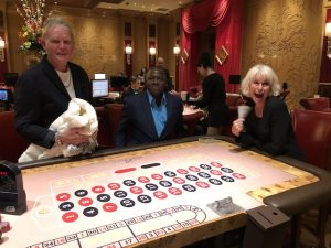 Having fun at the roulette table in the Bellagio