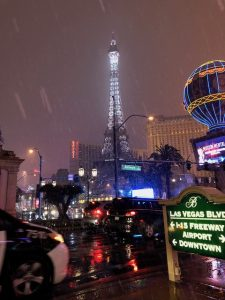 The Eiffel Tower in the snow.....