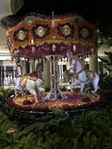 I mean - how often do you come across a carousel of flower covered horses walking through a hotel - well quite often if you are at the Wynn.
